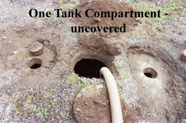 One Tank Compartment septic system